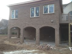 Patio Brick Arches by Sparks Masonry