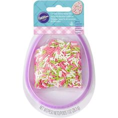 Grab the kids and make fun Easter egg-shaped cookies with this cutter and sprinkles set.
