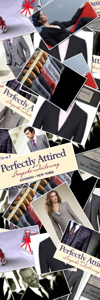 Perfectly Attired – for those who wish to look their best. Delivering quality tailoring and outstanding service. www.perfectlyattired.com