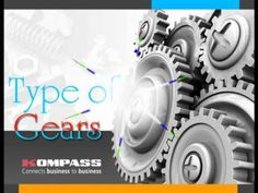 Types of Gear more info visit us @ http://in.kompass.com/live/en/g53021502/manufacturing/gears-1.html