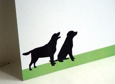 Black Lab Personalized Stationery  Thank You Notes by fionadesigns, $20.00