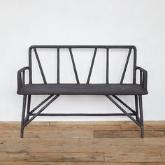 Crafted from hand-cast from concrete over an iron frame, this bench blends modern sensibilities with traditional faux bois elements for a lasting, dur Chair Bench, Diy Chair, Chair Cushions, Outdoor Garden Furniture, Outdoor Decor, Garden Benches, Garden Chairs, Outdoor Living, Modern Courtyard