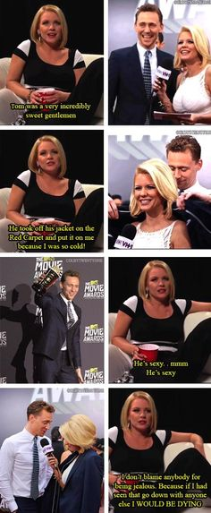 Tom Hiddleston | Who is not a member of Hiddleston's army? #TomHiddleston at the #MTV Movie Awards 2013