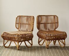Vintage Rattan chairs #RattanChair