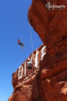 There are a lot of therapeutic lessons to be learned during a rappelling activity. Plus St George, Utah Sojourn Academy students think it's great fun! www.facebook.com/...