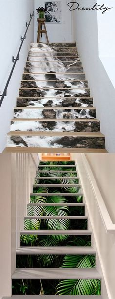 Mother& Day Gifts 2019 - Removable Stair Stickers from DressLily. - Mother& Day Gifts 2019 – Removable Stair Stickers from DressLily. Stair Stickers, Stair Decor, Home Wallpaper, Adhesive Wallpaper, Wallpaper Ideas, Wallpaper Stairs, Bedroom Wallpaper, Wallpaper Wallpapers, Staircase Design