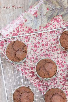 Muffins sans gluten au chocolat, sirop d'érable, huile d'olive et gros sel