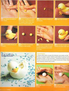 STEP BY STEP DUCKLING YELLOW, WHITE AND FINCH PART N°3