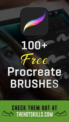 100 Free Procreate Brushes Digital Art digital art apps for ipad Digital Painting Tutorials, Digital Art Tutorial, Ipad Art, Tittle Ideas, Best Procreate Brushes, Procreate Brushes Download, Crea Design, Affinity Photo, Affinity Designer
