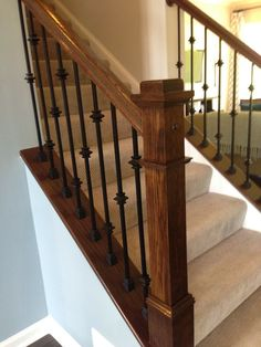 Knuckle Balusters, Iron Balusters Stairs, Stairway Banisters, Iron Spindles, House Staircase, Iron Staircase, Staircase Railings, Stairwell, Bannister
