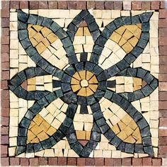 Green Flower    Dimensions: 20x20cm(7.8x7.8inches)  Time Taken: 10 Hours.  Installation: This mosaic reaches you as a single piece with a mesh background for easy installation.  Value: $ 35.    Weight: 2 Kg  ID #: 2446  Price: $21.00