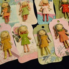 Amelie felt dolls by SUSANNAH DASHWOOD, via Flickr