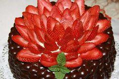 Choco y frutillas