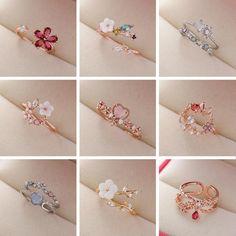 Stylish Jewelry, Cute Jewelry, Jewelry Accessories, Jewelry Design, Accessories For Girls, Stylish Rings, Jewelry Shop, Fashion Rings, Fashion Jewelry