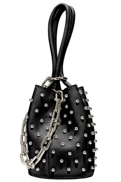 Channeling my inner rock n' roll diva with this Alexander Wang bucket bag Fendi Spy Bag, Punk Chic, Hand Bags 2017, Leather Duffle Bag, Back Bag, Casual Bags, Luxury Bags, Beautiful Bags, Shoulder Handbags