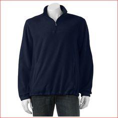 NEW/NWT Croft & Barrow® Arctic 1/4-Zip Fleece Pullover Men's SMALL Navy Blue #CroftBarrow #14ZipPullover