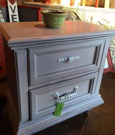 Nightstand painted in Paloma Chalk Paint®