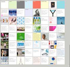 Saga inc. Japanese design studio. Grids, pastel, calm, zen, webdesign.