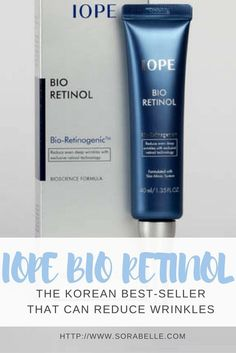 Iope Bio Retinol contains the retinol, one of the few ingredients that can really reduce wrinkles.