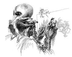 Artist at work, Heinrich Kley