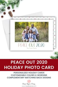 Ready to say Peace Out 2020? Share holiday greetings with polka dot holiday photo cards. Need to add more pictures or share a detailed message? Add a complementary custom back upgrade. We design, personalize, and professionally print your holiday cards for you. Shop Holiday Cards today. Christmas Card Pictures, Christmas Photo Cards, Holiday Photos, Holiday Cards, Merry Christmas Happy Holidays, Merry Christmas Greetings, Envelope Address Printing, Personalised Photo Cards, Paper Press