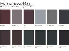 {Living room} // Farrow and Ball - dark greys