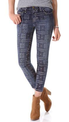 Current/Elliott The Stiletto Jeans Bandana Print