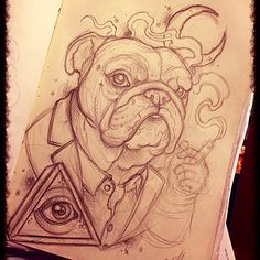 Sketched this on the way to Paris, based on my dog Tyke. A lot of detailing to…