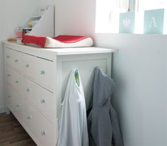 Clever customisation - Add child-height clothes hooks to the side of a HEMNES, so your kids can pick up (and put away!) their jackets independently | Spotted in Lieve's home, Belgium | live from IKEA FAMILY