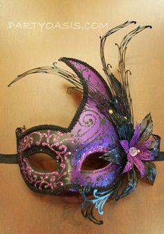 Purple Luna Mask