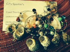 Six By The Sea Wine Charms by CJsSparkles on Etsy, $15.00