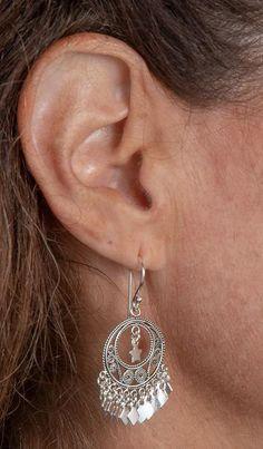 *TINY GOLD RIBBON BOW SWING* GP Chain Drop Earrings Gift Bag Xmas Lightweight