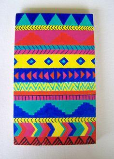 Aztec Painting by OriginalsByMel on Etsy, $33.00