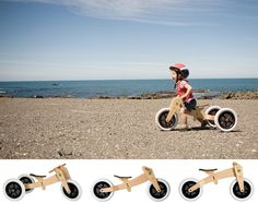 Ì love the clever and sustainable design of this wishbone bicycle: it grows from toddler tricycle to fast running bike and has a long useful lifetime for kids from 1-5 years