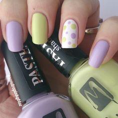 Pastel dots! Nail art avec les jolis MOYRA 601 & 603