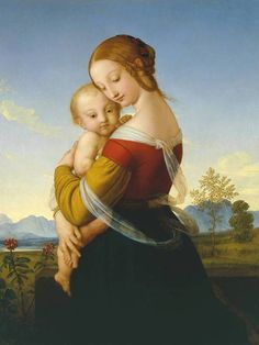 William Dyce, c.1827-30, Madonna and Child #art #painting