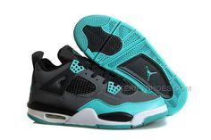 "online retailer 6e8f9 f411b Air Jordan 4 Retro ""Tiffany"" Teal-Black Cement Grey"