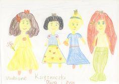 Księżniczki w wydaniu Zuzi 4,5 i Oliwki 9 lat