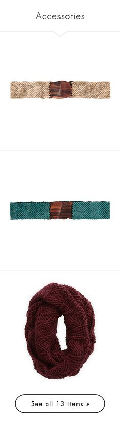 """Accessories"" by mkindred ❤ liked on Polyvore featuring accessories, belts, beige, beaded belt, buckle belt, elastic belt, woven elastic belt, beige belt, green and braided elastic belt"