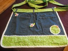 I love library programs — especially the crafty ones.  I recently attended an evening program during which we all made aprons out of old pairs of jeans.  Here's mine: It's really …