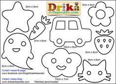 Patchwork moldes vários riscos simples para patch aplique - Drika Artesanato - O seu Blog de Artesanato.