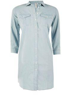 Denim jurk Anais | blauw van Knit-ted op www.littlesoho.com