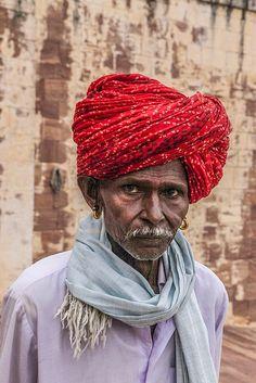 Holy man at pilgrimage in Jodhpur festival , India