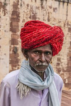 Holy man at pilgrimage in Jodhpur festival , India