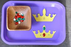 Counting Crown Jewels Thought this would be a neat learning craft for pre-school vbs class Preschool Themes, Preschool Activities, Knights And Castles Topic, Chateau Moyen Age, Fairy Tales Unit, Montessori, Fairy Tale Theme, Traditional Tales, Princess And The Pea