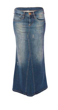 transformar calca jeans em saia longa 1                                                                                                                                                                                 Mais