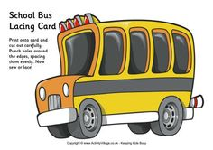 Transportation themed lacing cards from Activity Village Road Trip Activities, Motor Skills Activities, Preschool Activities, Educational Activities, Teaching Abcs, Transportation Unit, Lacing Cards, Kindergarten Readiness, School Themes