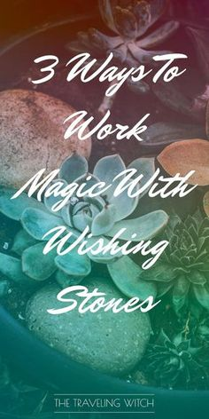3 Ways To Work Magic With Wishing Stones // Witchcraft // Magic // The Traveling Witch Moon Spells, Magic Spells, Easy Spells, Wiccan Magic, Healing Spells, What Is Spirituality, Wishing Stones, Witchcraft For Beginners, Witch Spell