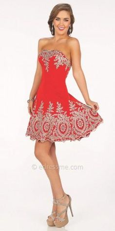 Erica Prom Dress by Mon Cheri Shorts  #dress #dresses #prom #promdress #moncheri #moncherishorts #designer #fashion #edressme