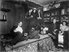 Opium den during the Late Victorian Era, London